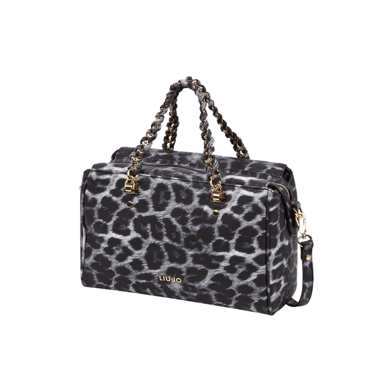 Bowling Bag mit Leopardenmuster