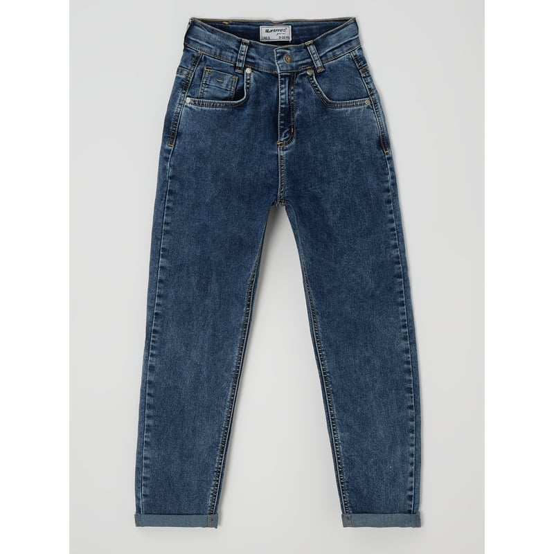 Balloon fit jeans met stretch
