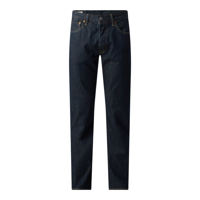 Straight Fit Jeans aus Baumwolle Modell '501'