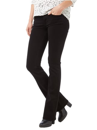 7 for all mankind Coloured Skinny Fit Bootcut Jeans Schwarz - 1