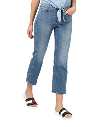 7 for all mankind Cropped Stone Washed 5-Pocket-Jeans Hellblau - 1