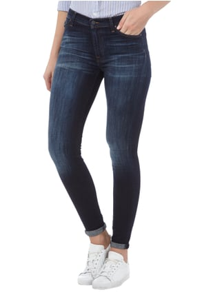 7 for all mankind High Waist Jeans im Skinny Fit Blau - 1