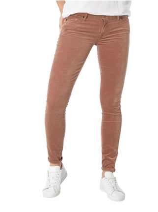 7 for all mankind Skinny Fit Samthose mit Stretch-Anteil Pink - 1