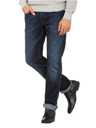 7 for all mankind Slim Fit Jeans im Stone Washed Look Dunkelblau meliert - 1
