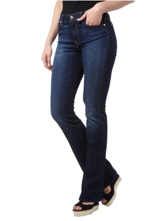 7 for all mankind Stone Washed Bootcut Jeans Blau - 1