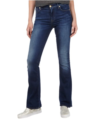 7 for all mankind Stone Washed Bootcut Jeans Hellblau - 1