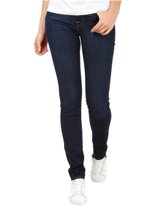 7 for all mankind Stone Washed Skinny Fit Jeans Dunkelblau - 1