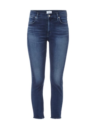 Cropped Stone Washed Jeans Blau / Türkis - 1