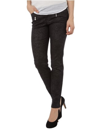 Angels Skinny Jeans mit All-Over-Muster Schwarz - 1