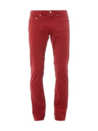 Coloured Regular Fit Jeans Rot - 1
