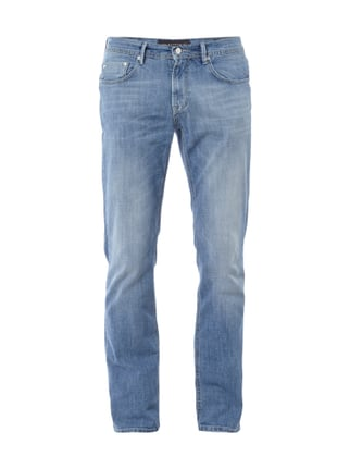Double Stone Washed Straight Fit Jeans Blau / Türkis - 1
