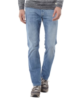 Baldessarini Double Stone Washed Straight Fit Jeans Bleu - 1