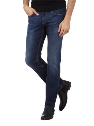Baldessarini Regular Fit Jeans im Rinsed Washed-Look Marineblau - 1