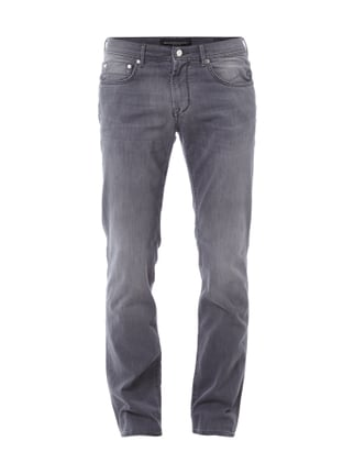 Stone Washed Regular Fit Jeans Grau / Schwarz - 1