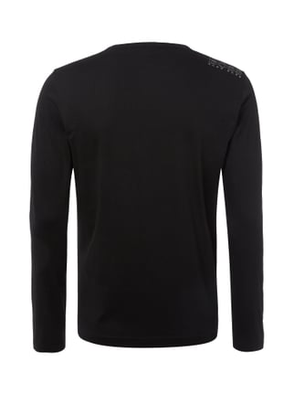 Boss Green Modern Fit Longsleeve in Melangeoptik Schwarz - 1