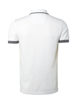 Boss Green Slim Fit Poloshirt - atmungsaktiv Weiß - 1