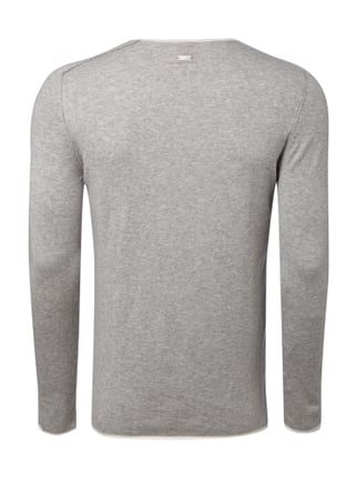 Boss Orange Slim Fit Pullover im Feinstrick - meliert Hellgrau - 1