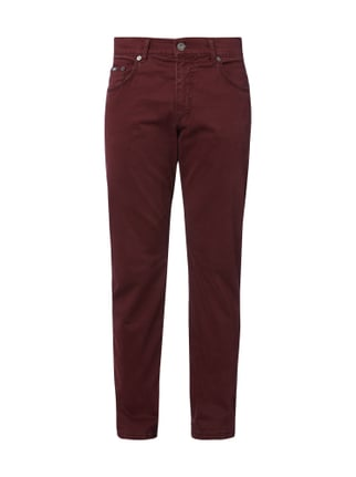 Regular Fit 5-Pocket-Hose mit Stretch-Anteil Rot - 1