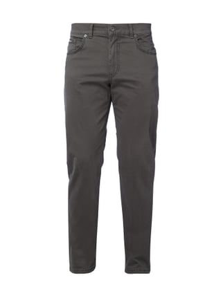 Regular Fit 5-Pocket-Hose mit Stretch-Anteil Grün - 1