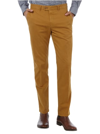 Brax Regular Fit Chino mit Stretch-Anteil Messing - 1