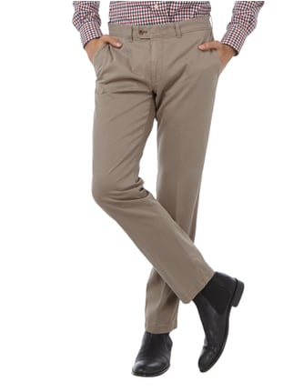 Brax Regular Fit Chino mit Stretch-Anteil Stein - 1