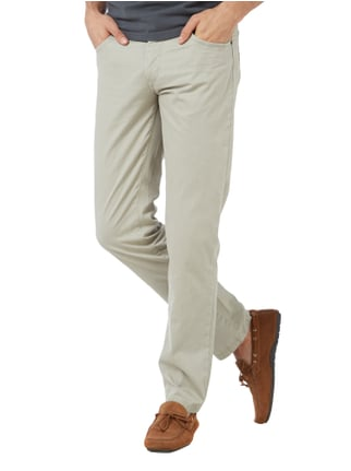 Brax Straight Fit 5-Pocket-Hose im Washed Out Look Beige - 1
