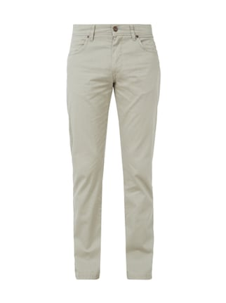 Straight Fit 5-Pocket-Hose im Washed Out Look Weiß - 1