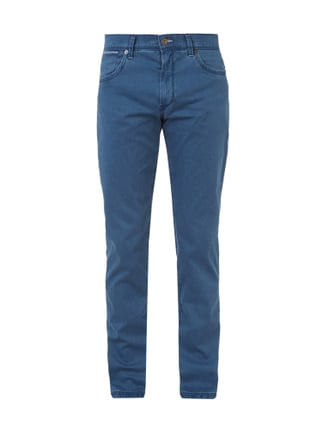 Straight Fit 5-Pocket-Hose im Washed Out Look Blau / Türkis - 1