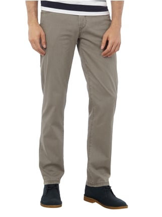 Brax Straight Fit 5-Pocket-Hose im Washed Out Look Schlamm - 1