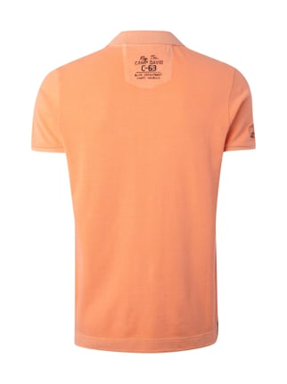 Camp David Poloshirt mit Kontrastdetails Neon Orange - 1