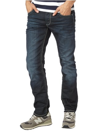 Camp David Regular Fit Jeans mit Kontrastnähten Blau - 1