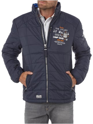Camp David Steppblouson mit Logo-Details Marineblau - 1