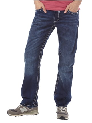 Camp David Stone Washed Jeans mit Ziernähten Jeans - 1