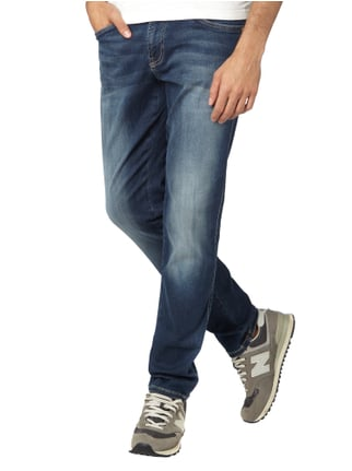 Camp David Stone Washed Regular Fit Jeans mit Ziernähten Blau - 1