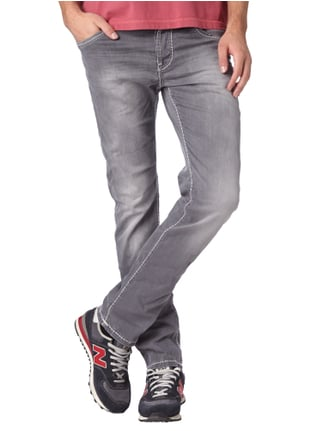 Camp David Stone Washed Regular Fit 5-Pocket-Jeans Hellgrau - 1