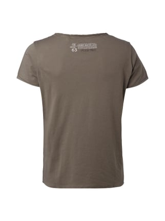 Camp David T-Shirt mit Brusttasche Khaki - 1