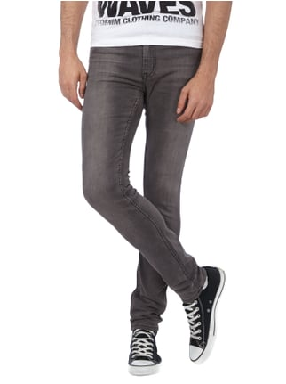 Cheap Monday Stone Washed Slim Fit 5-Pocket-Jeans Mittelgrau - 1