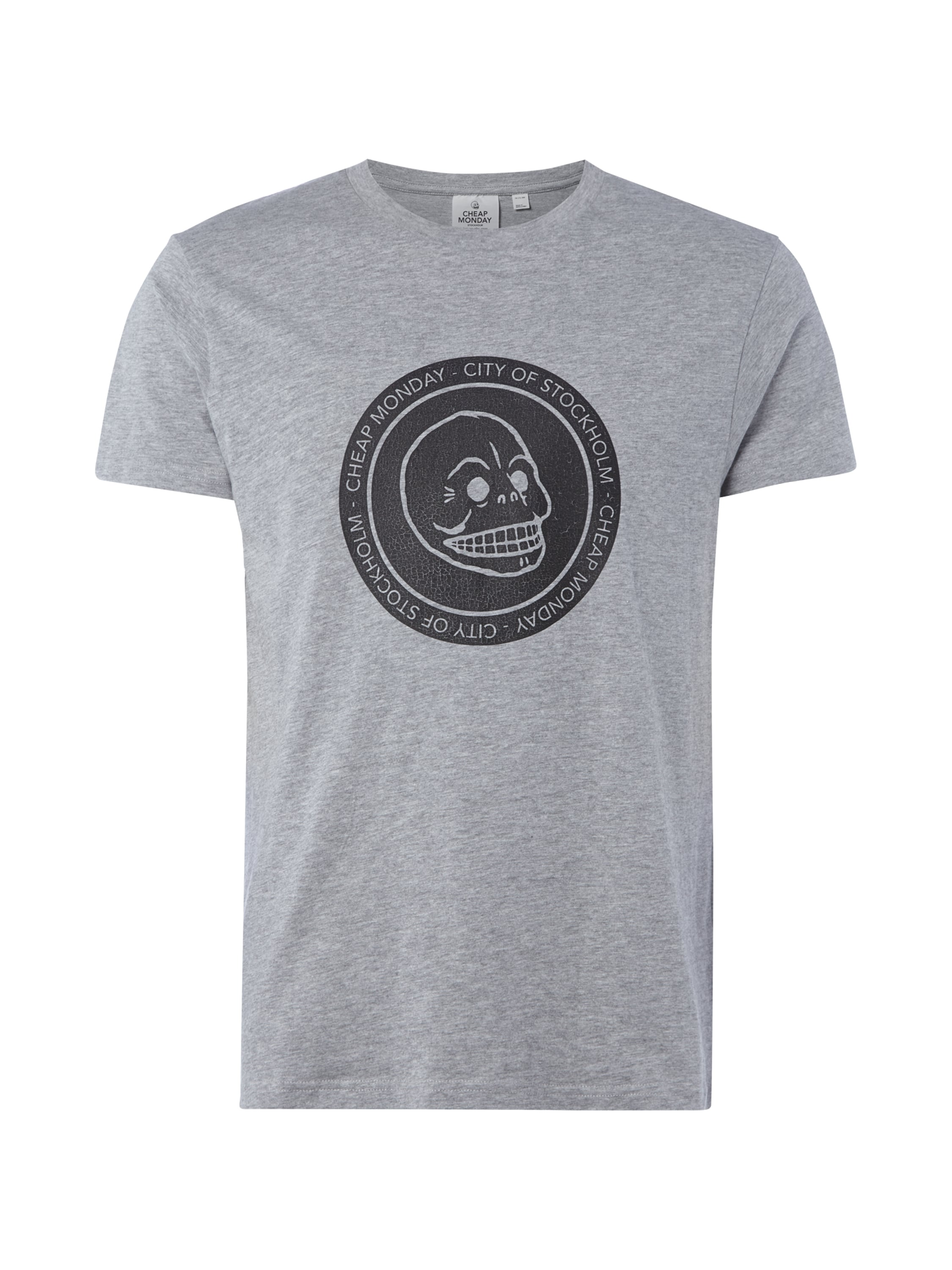 Cheap monday t shirt mit logo print im vintage look in for Cheap print t shirts