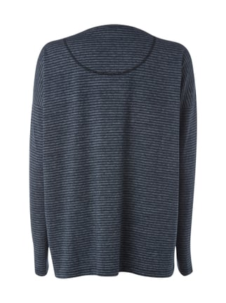 Closed Boxy Fit Longsleeve mit Streifenmuster Blau - 1