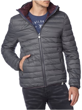 Colours & Sons Light-Daunen Steppjacke mit abnehmbarer Kapuze Graphit - 1