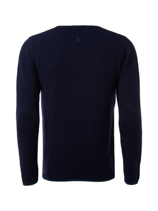 Colours & Sons Pullover aus Baumwolle mit Ellenbogen-Patches Marineblau - 1