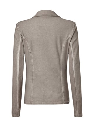 comma Casual Identity Sweatblazer im Washed Out Look Taupe - 1