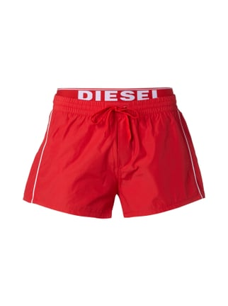 Badeshorts im Double-Layer-Look Rot - 1