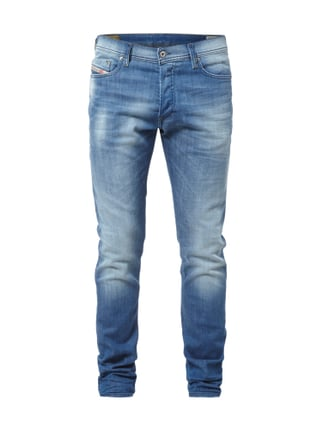 Slim Fit Stone Washed 5-Pocket-Jeans Blau / Türkis - 1