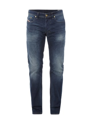 Stone Washed Regular-Straight Fit Jeans Blau / Türkis - 1