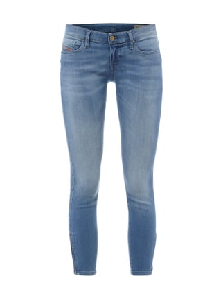 Super Slim-Skinny Jeans im Stone Washed-Look Blau / Türkis - 1