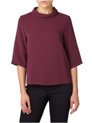 Esprit Collection Blusenshirt mit Dreiviertel-Ärmeln Bordeaux Rot - 1
