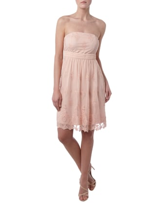 Esprit Collection Cocktailkleid mit feinen Stickereien in Rosé - 1