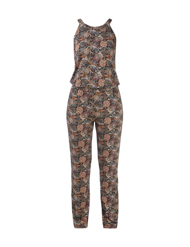 Esprit Collection Jumpsuit mit ornamentalem Allover-Muster - Schwarz
