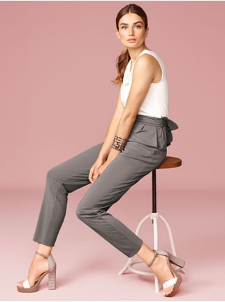 Esprit Collection Two-Tone Jumpsuit mit Wasserfallausschnitt Taupe - 1